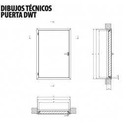 Puerta de madera termoaislante DWT