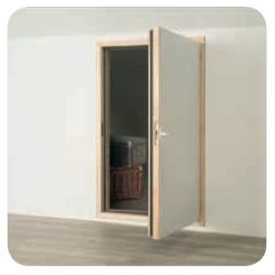 Puerta de madera termoaislante DWF