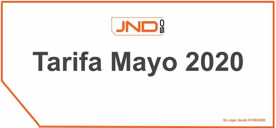 Tarifa mayo 2020